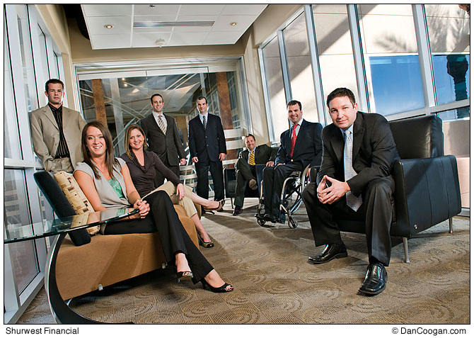 Group shot of the Marketing team, Shurwest Financial Group, Scottsdale, AZ.