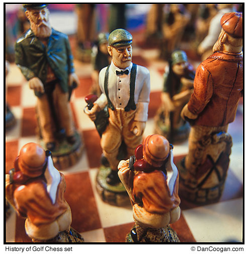 History of Golf Chess Set